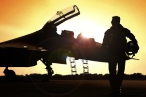 An Air Force Fighter Pilot Sunset Image for AFOQT Academy Practice Test 01P